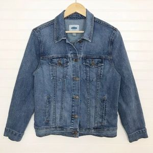 Old Navy Medium Wash Blue Jean Denim Jacket Large